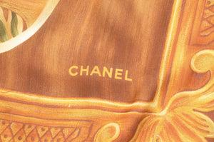 Chanel Silk Scarf Japanese Bird Print
