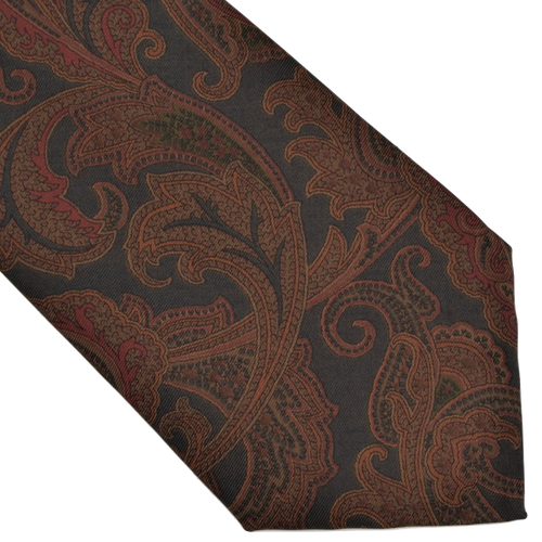 Ancient Madder Italian Silk Tie - Paisley