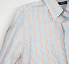Load image into Gallery viewer, Canali Striped Shirt Size XL - Blue/Orange