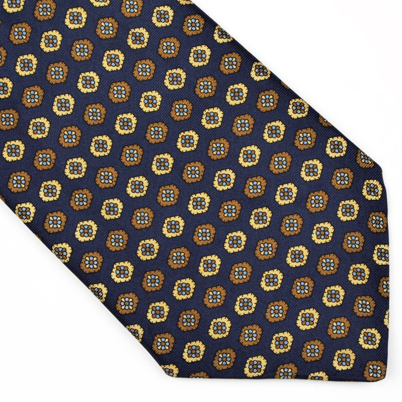 Prokop Graz English Fourlard Tie - Navy