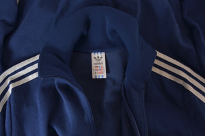Vintage '70s-'80s Adidas Track Jacket Size D8 - Navy