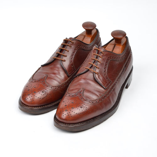 Bruno Magli Brogue Shoes Size UK 8 - Brown