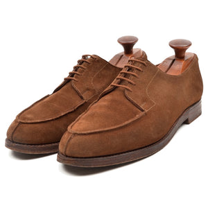 Alt Wien x Crockett & Jones Suede Norweger Split Toe Shoes Size 7E - Tobacco Brown