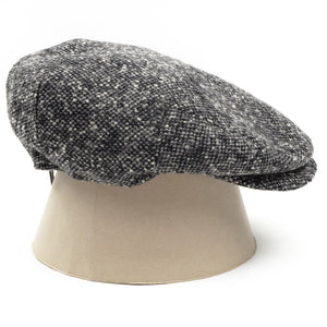 Stetson Bandera Donegal Tweed Flatcap Hat Size 55/S - Grey