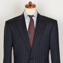 Load image into Gallery viewer, Pal Zileri Super 150s Striped Suit Size 52 - Navy Blue