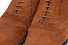 Load image into Gallery viewer, Harrod's x Crockett & Jones Hampton Shoes Size UK 7.5F - Snuff Suede