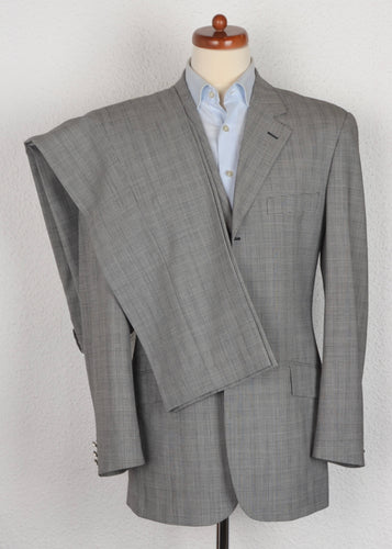 Moschino Tailored Wool Blend Suit Size 50 - Prince of Wales