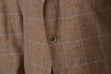 Load image into Gallery viewer, Terner Silk/Linen Windowpane Jacket Size 28 56SH - Brown