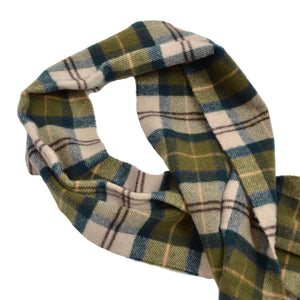 Barbour Plaid Wool Scarf - Green Plaid