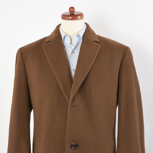 Hugo Boss Wool Cashmere Overcoat Size 54 - Brown