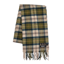 Load image into Gallery viewer, Barbour Plaid Wool Scarf - Green Plaid