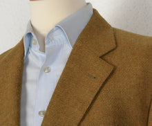 Load image into Gallery viewer, Burberrys Tweed Jacket Size 26 52 Short - Mustard