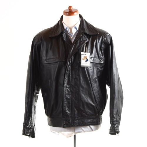 Loewe Madrid Leather Jacket Size 48 - Black