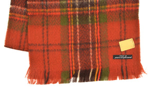 Plaid Gauze Wool Scarf - Orange