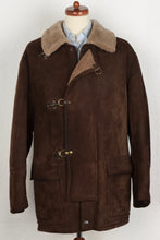 Load image into Gallery viewer, Effetti Fireman Buckle Shearling Coat - Size 50