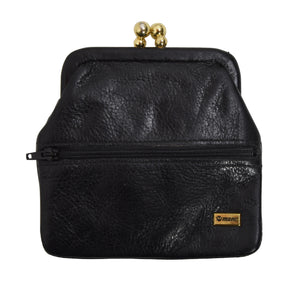 Mano Handmade Leather Change Purse - Black