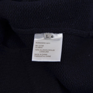 Acne Shawl Collar Normandie AW11 Sweater Size L - Navy