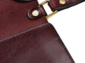Jérome Leplat Leather Document Holder - Burgundy