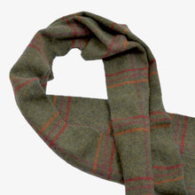 Load image into Gallery viewer, The Brackendale Plaid Wool Scarf - Green Plaid