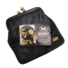 Load image into Gallery viewer, Mano Handmade Leather Change Purse - Black