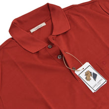 Load image into Gallery viewer, 2x Ermenegildo Zegna Polo Shirts - Brick Red/Blue
