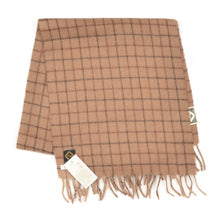 Load image into Gallery viewer, Camelhair Scarf with Graph Check - Camel