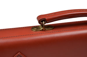 John Sharp Leather Briefcase - Rust