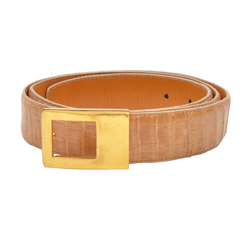 A. Testoni Genuine Crocodile Belt Size 100/40 - Blonde