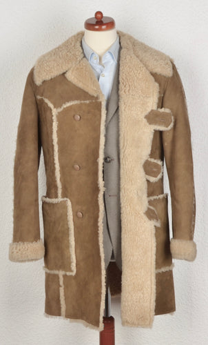 Friitala Shearling Coat Size 52 - Tan