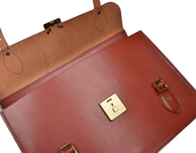 Load image into Gallery viewer, John Sharp Leather Briefcase - Rust