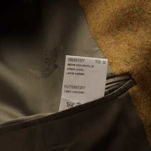 Burberrys Tweed Jacket Size 26 52 Short - Mustard