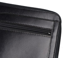 Load image into Gallery viewer, Pierre Waldon Leather Document Holder/Portfolio - Black