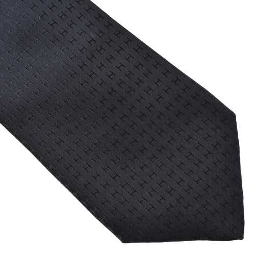 Hermès Paris Silk Tie H Pattern - Black