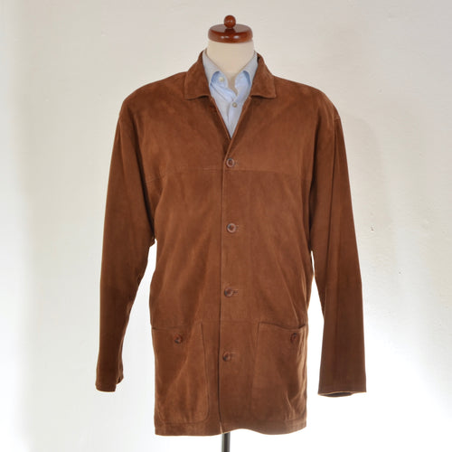 Suede Jacket Size 52 - Tobacco Brown