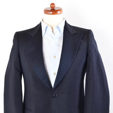 Load image into Gallery viewer, Vintage Wool/Mohair Peak Lapel Tuxedo Size 46 - Midnight Blue