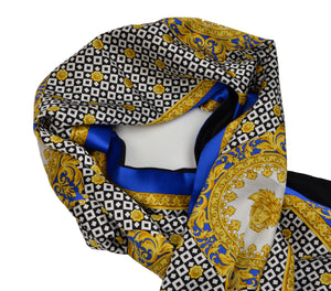 Vintage Atelier Versace Double-Sided Scarf Silk & Wool