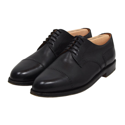 Ludwig Reiter Cap Toe Shoes Size 8 - Black