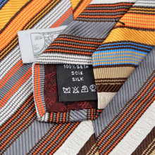 Load image into Gallery viewer, Versace Spellout Silk Tie - Stripes