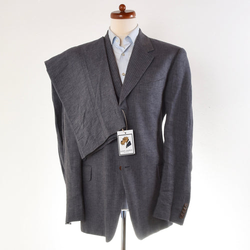 Paul Smith London Linen Suit Size UK 44 - Steel Blue