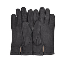 Load image into Gallery viewer, Leather Lined Gloves Size 8.5 - Dark Grey/Black