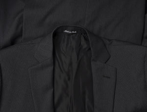 Pal Zileri Wool Suit Size 50 L - Dark Grey Stripe
