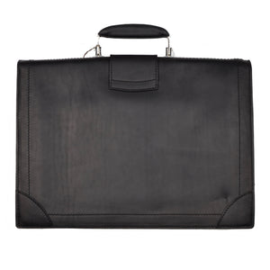 Seeger Germany Oiled Leather Briefcase - Black