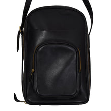 Load image into Gallery viewer, E. Braun & Co. Wien Leather Shoulder Bag - Black