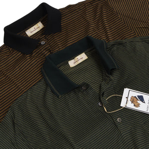 2x Ermenegildo Zegna Polo Shirts - Green/Black