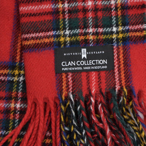 New Clan Collection Wool Scarf - Stewart Royal