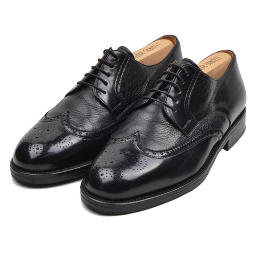 Magnanni Comfort Leather Shoes Size 43.5 H Wide - Black
