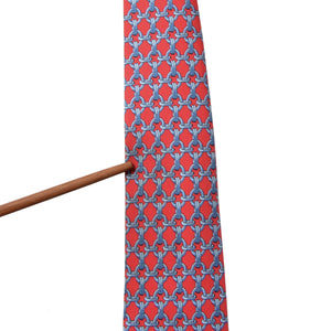 Hermès Paris Silk Tie 59 EA - Bright Red