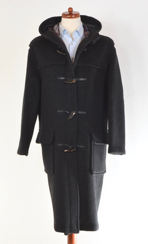 Gloverall Wool Duffle Coat Size M - Grey