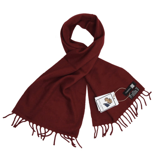 Maestro 100% Cashmere Scarf - Blood Red