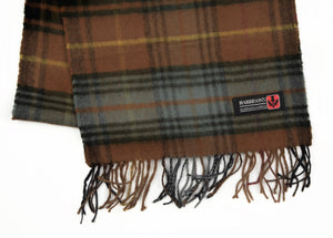 Plaid Wool Scarf by Harrison's of Sctland - Brown
